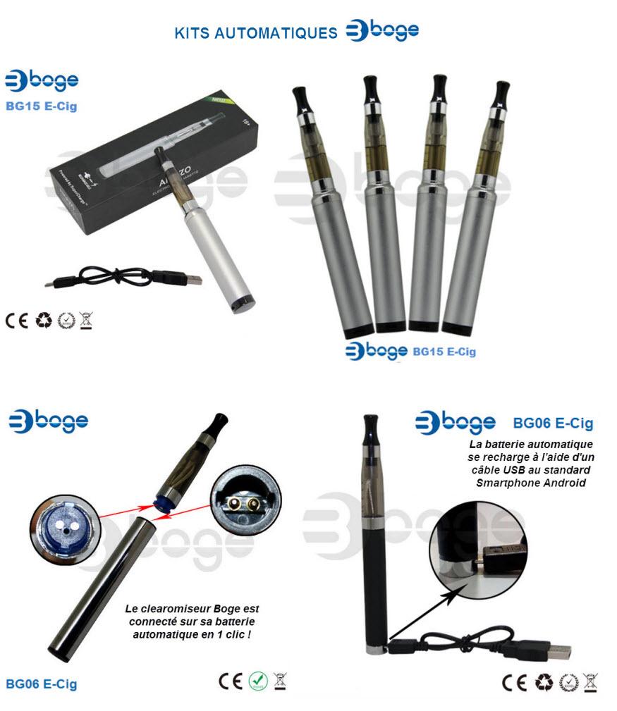 Les kits cigarette électronique de la marque BOGE