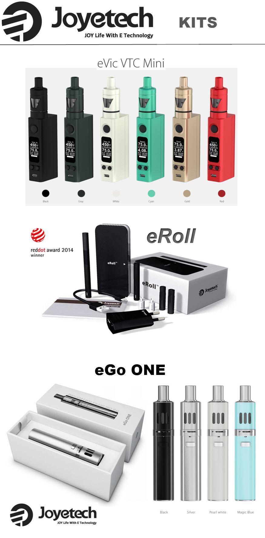 Les kits cigarette électronique de la marque JOYETECH