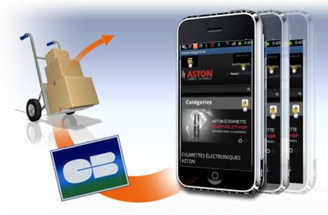m-commerce avec ASTON Cigarette électronique