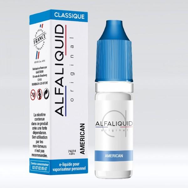 E-liquide Saveur Tabac American ALFALIQUID